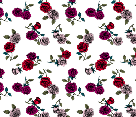 Roses fabric by susanna_nousiainen on Spoonflower - custom fabric