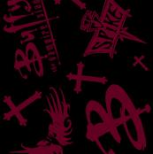 Black Maroon Buffy The Vampire slayer