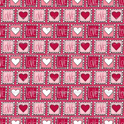 Valentines Love Stamps