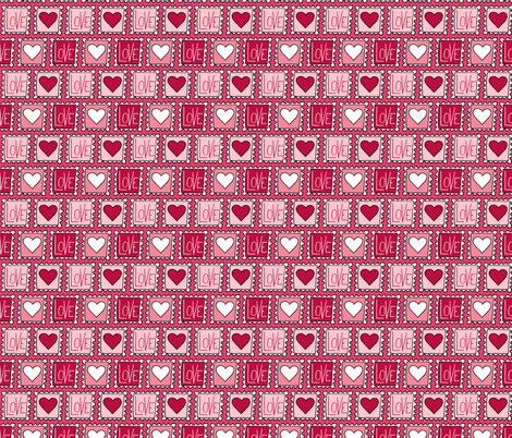 Valentines Love Stamps fabric by northern_whimsy on Spoonflower - custom fabric