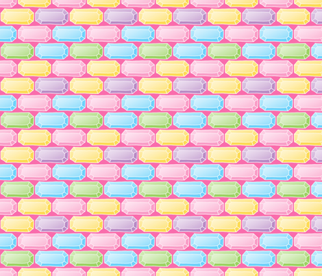 Pastel Gem / Bling Pattern fabric by northern_whimsy on Spoonflower - custom fabric