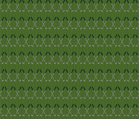 Golf Club Pattern - Putters fabric by northern_whimsy on Spoonflower - custom fabric