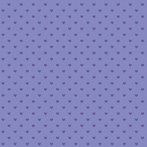 Tiny purple polka hearts