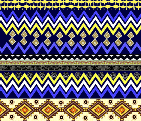 african-wave fabric by nalaxcollection on Spoonflower - custom fabric
