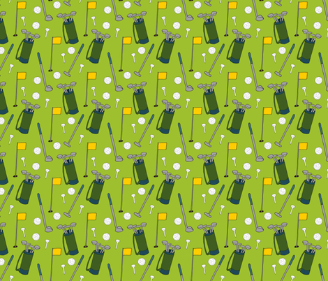 Golfing Pattern fabric by northern_whimsy on Spoonflower - custom fabric