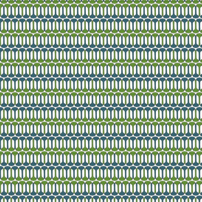 Golf Tee Pattern - blue & green