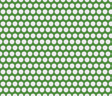 Golf Balls on Green fabric by northern_whimsy on Spoonflower - custom fabric