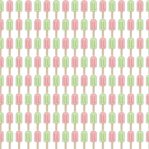 Ice Pops in Pink and Mint