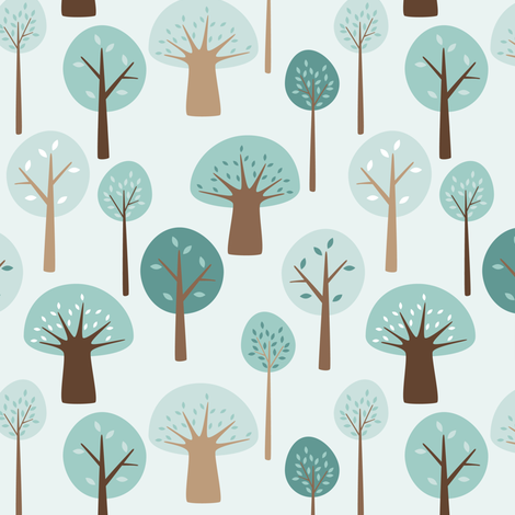 trees in the park fabric by heleenvanbuul on Spoonflower - custom fabric