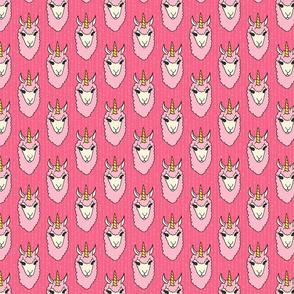 Pink Llama Unicorns (Llamacorns)
