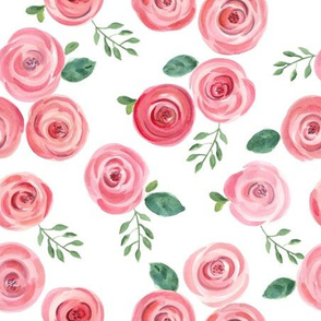 Watercolor Roses // Reds and Pinks