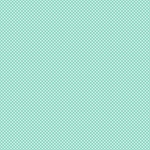 Aqua Blue Polka Dots