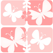 Pink and white butterflies