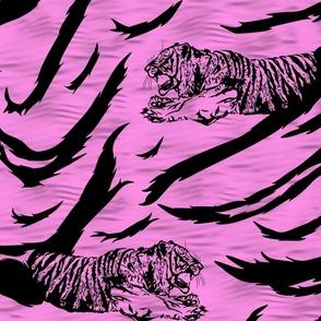 Tribal Tiger stripes print - bubblegum pink large