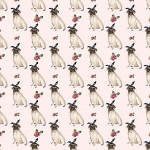 """1.5"""" Pug Life - Pink with Polka Dots"""