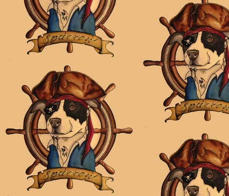 CaptainJackSparrow fabric by wrenrow on Spoonflower - custom fabric
