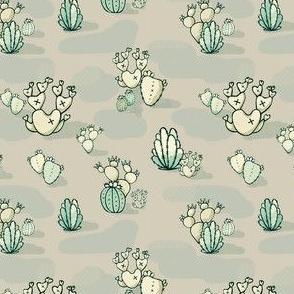 High Desert Cactus // Hand Drawn Southwestern Cacti Succulent