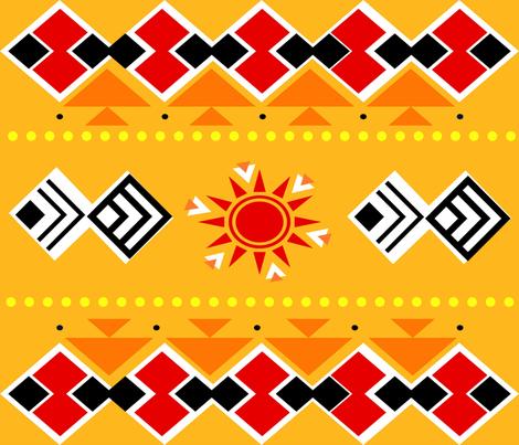 Sunshine fabric by rcmzstudio on Spoonflower - custom fabric