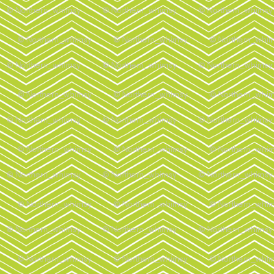 Green and White Chevron