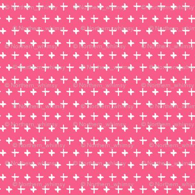 Pink Cross Pattern