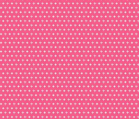 Pink Cross Pattern fabric by northern_whimsy on Spoonflower - custom fabric