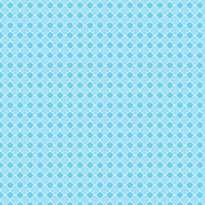 Blue Quatrefoil Pattern