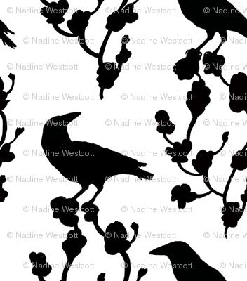 BLACK BIRDS on JIM'S TREE