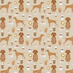 Vizsla coffee (small) cafe dog fabric pet dog breeds vizslas tan