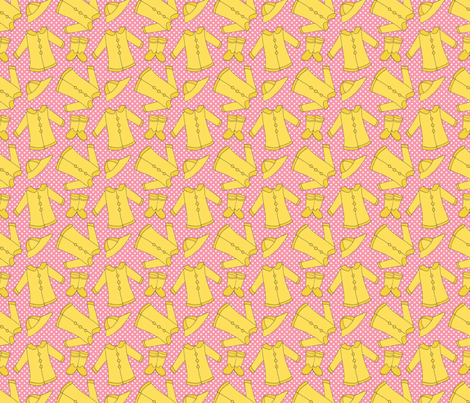 Rain Coats on Pink fabric by northern_whimsy on Spoonflower - custom fabric