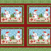 Placemats - Festive Snowman - Green