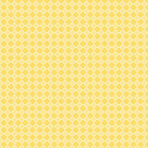 Yellow Quatrefoil Pattern