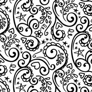 Color-In Girly Scroll