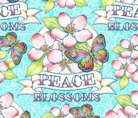 Peace Blossoms Tattoo fabric by patriciasheadesigns on Spoonflower - custom fabric