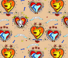 tatoo dogs fabric by yanina_nechaeva on Spoonflower - custom fabric