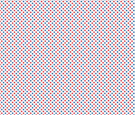 Red and Blue Polka Dots on White fabric by northern_whimsy on Spoonflower - custom fabric