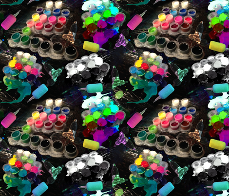 Ink and machines fabric by everhigh on Spoonflower - custom fabric
