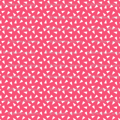 Pink Tossed Triangles
