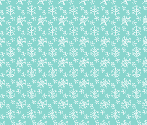 Winter Snowflake Pattern on Blue fabric by northern_whimsy on Spoonflower - custom fabric