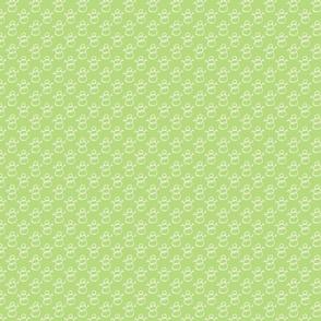 Small Sketch Snowman Pattern in Mint Green