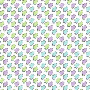Pastel Mitten Pattern