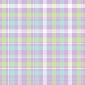 Purple, Blue, and Green Plaid