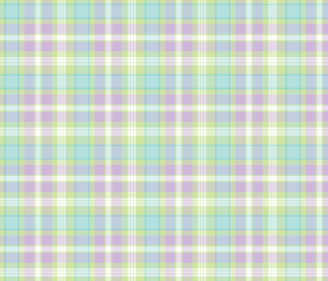 Plaid in Mint Green, Purple, and Pastel Blue fabric by northern_whimsy on Spoonflower - custom fabric