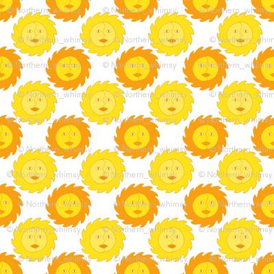 Summer Sunshine - Yellow Sun Pattern.