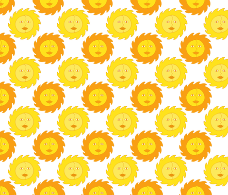 Summer Sunshine - Yellow Sun Pattern. fabric by northern_whimsy on Spoonflower - custom fabric