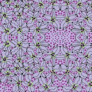 flower dots/lavender