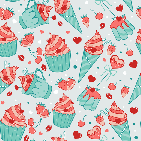 Valentine sweets (pastel) fabric by elena_naylor on Spoonflower - custom fabric