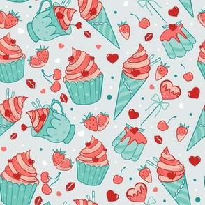 Valentine sweets (pastel)