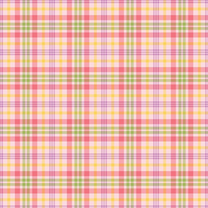 Pink, Purple, Yellow and Green Spring Plaid