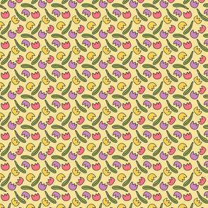 Tiny Tulip Floral Pattern