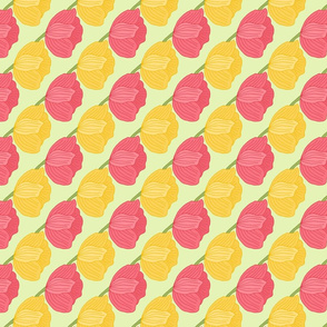 Spring Tulips in Pink and Yellow